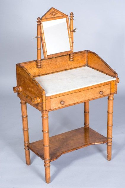 faux bamboo childs dressing table regency period