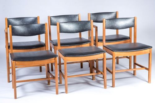 set of six dining chairs by robert heritage for archie shine
