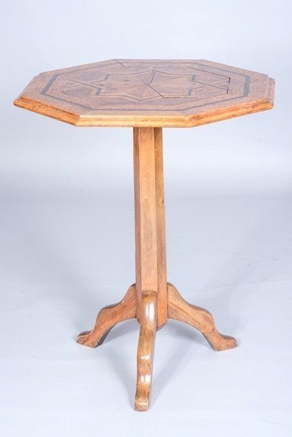 19th century marquetry tripod table