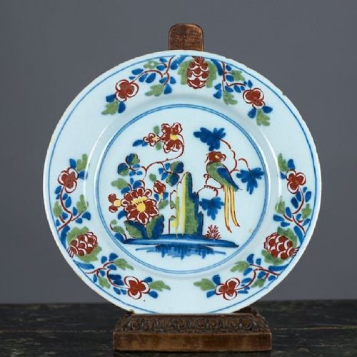 antique lambeth delft plate