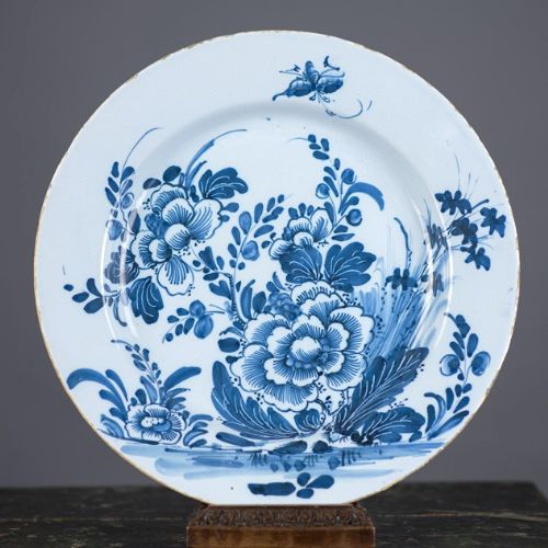 antique english delft charger