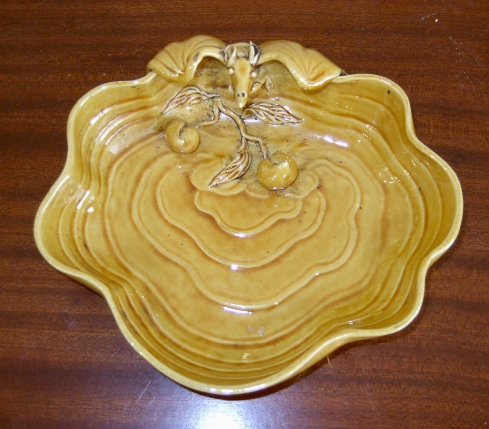 yellow glazed chinese porcelain dish