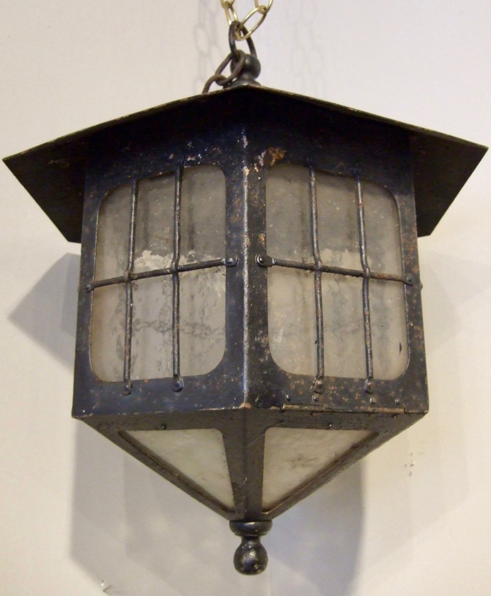 small hall lantern wrought iron