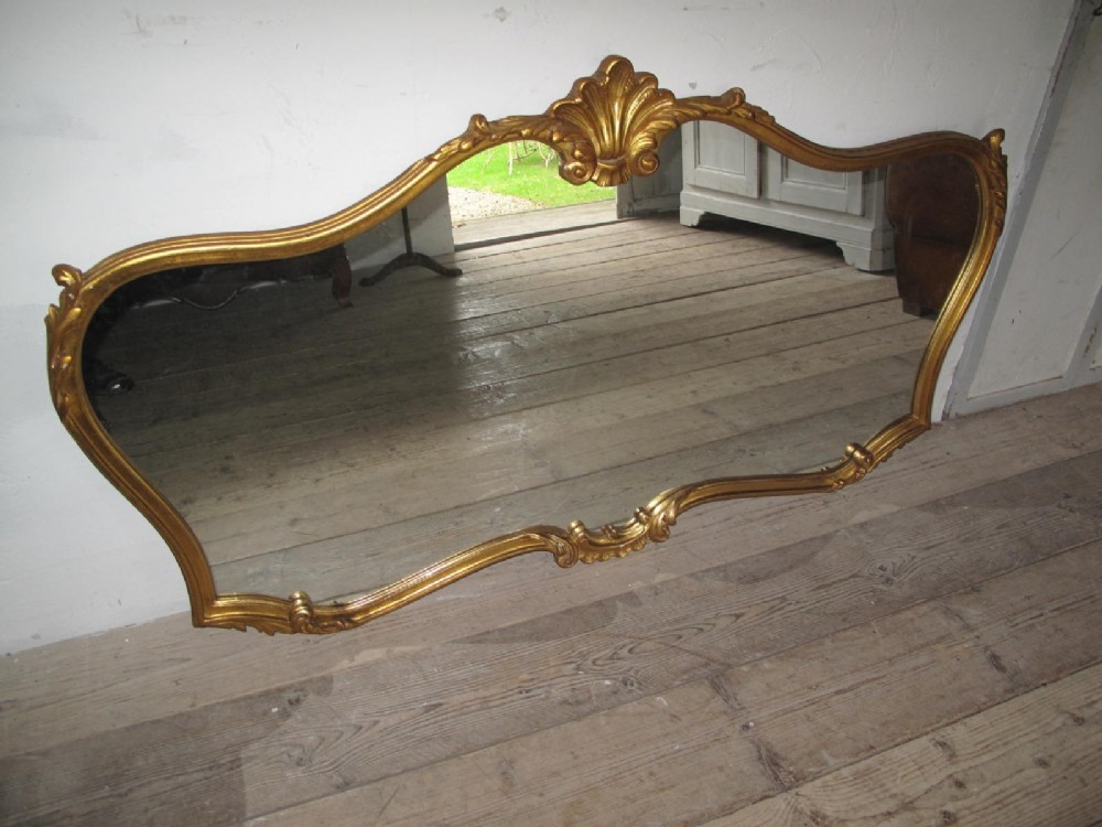 french gilded overmantel mirror