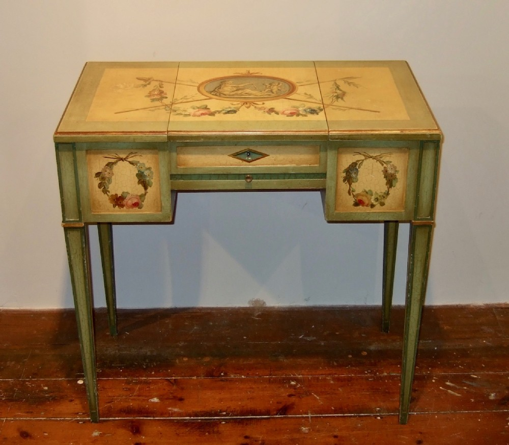 french painted dressing table