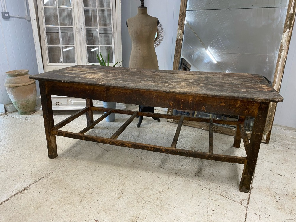 french bakers table in teak 19th century