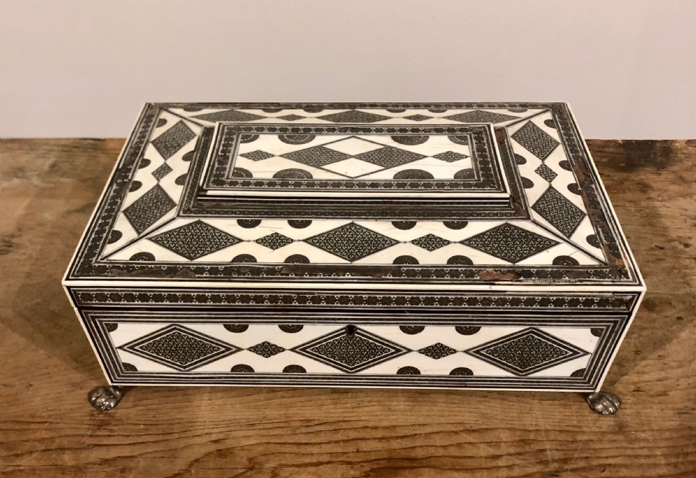 anglo indian sadeli sewing box 19thc