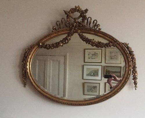 large gilt overmantel mirror c1840