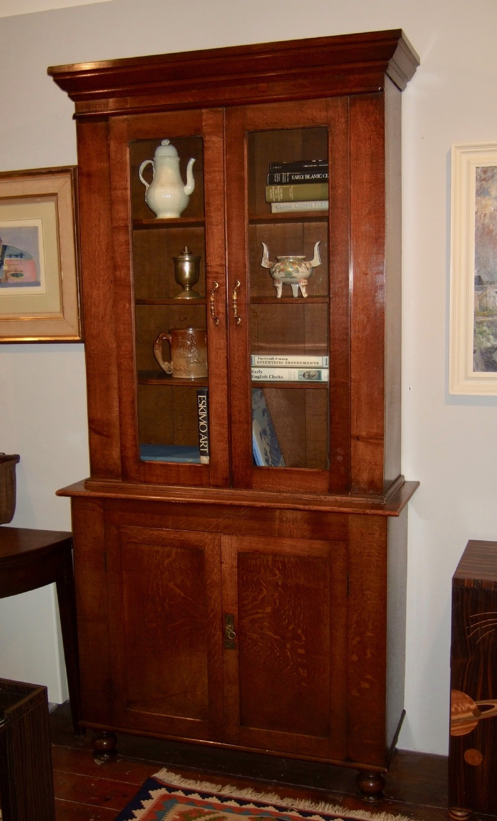 19thc english oak bookcase