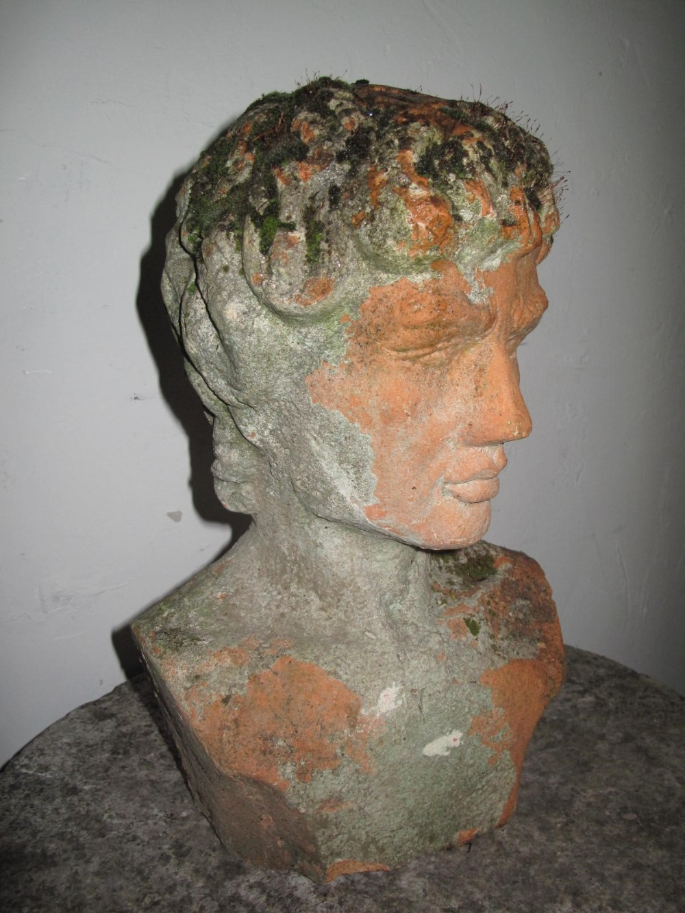 terra cotta bust of a young man c 1900