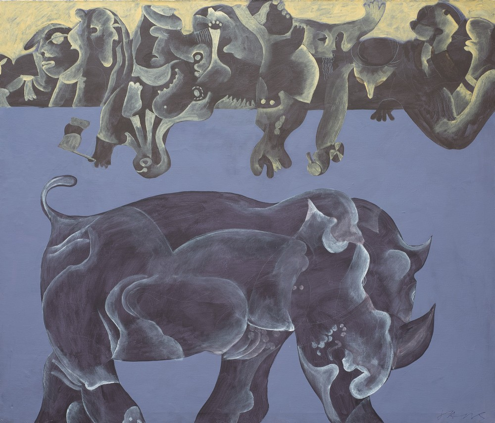 16 rhino and his visitors 1994 roland jarvis